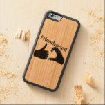 Illustration Friendzoned Hands Shape Carved® Cherry iPhone 6 Bumper Case