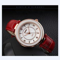 Luxury Brand Top Shellfish Dial Fashion Casual Ladies Quartz Watch Women Dress Watches Leather Strap Women Wristwatches - Online Shopping for Watches
