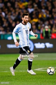 Lionel Messi of Argentina during a friendly football international between Argentina and Brazil at the Melbourne Cricket Ground in Melbourne, Australia on June 09, 2017.