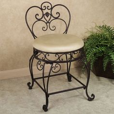 Grace your bathroom with the traditional styling of the Aldabella Tuscan Slate Upholstered Vanity Chair. Dining Room Table Chairs, Shabby Chic Table And Chairs, Farmhouse Dining Chairs, Accent Chairs For Living Room, Cafe Chairs, Living Room Decor, Vanity Seat, Vanity Stool, Vanity Chairs