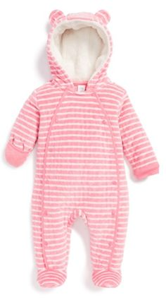 adorable pink striped hooded bunting http://rstyle.me/n/t2emhr9te