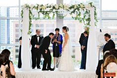 Winston Flowers, Floral Chuppah, Traditional Jewish Wedding, Breaking the Glass, Boston Wedding Photography, Boston Event Photography, The InterContinental Hotel Boston