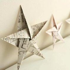 Etoiles origami à poser