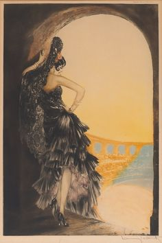 Artwork by Louis Icart (1880-1950), French illustrator