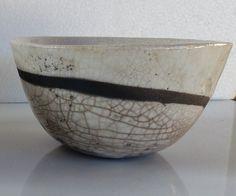 Bol zen ligne épurée en céramique raku blanc : Vaisselle, verres par sueresceramik