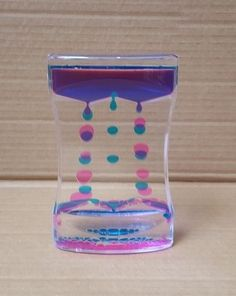 NEW STYLE Liquid Floating Timer Desktop Motion Visual Comfort Timer Oil Drop Toy