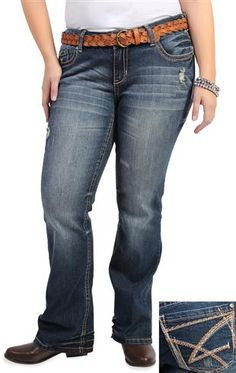 amethyst jeans embroidered pocket womens bootcut jeans ❤ liked on