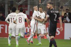 Roma vandt med 4-1 mod Milan, to mål af Dzeko, SES og De Rossi for Roma, Pasalic med et stakkels mål for Milan.