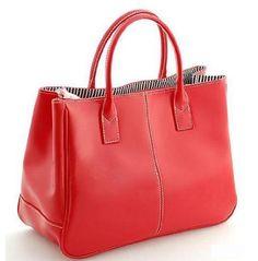Ginkgo Sotre Fashion Women Korea Simple Style PU leather Clutch Handbag Bag Totes Purse Red - #WomensHandbag