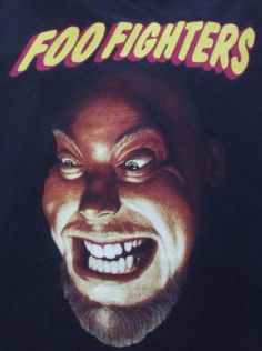 Vtg-FOO-FIGHTERS-RARE-1995-TOUR-T-Shirt-90S-DAVE-GROHL-Grunge-Nirvana-Rock-Lg