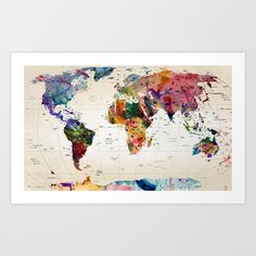 map Art Print by Mark Ashkenazi | Society6