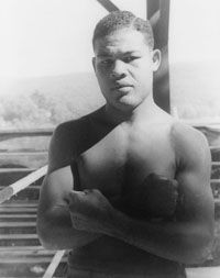 """Joe Louis (born May 13, 1914) was World Heavyweight Boxing Champion from 1937 to 1949. After his win over James Braddock, Langston Hughes said, """" No one else in the United States has ever had such an effect on Negro emotions – or on mine. I marched and cheered and yelled and cried, too."""" #TodayInBlackHistory"""