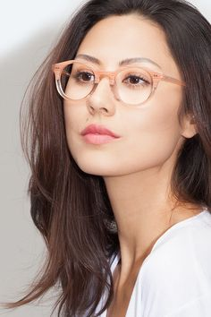 a3add9e362 Fade Translucent Striated Rose Acetate Eyeglasses from EyeBuyDirect. New  Glasses