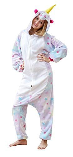 Cousinpjs Adults Onesie Unicorn Cosplay Costume Sleepwear Halloween Costumes  Star Medium a74d3aa3d