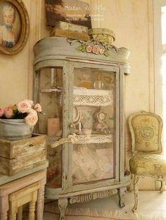 Beautiful antique armoire repurposed
