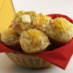 These herb-seasoned country cheddar muffins compliment a variety of foods. Muffin Pan Recipes, Bread Recipes, Cheddar Cheese Recipes, Wisconsin Cheese, Bread Baking, Muffins, Favorite Recipes, Breads, Country