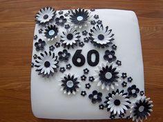 60th Birthday cake - black tie theme by Contemporary Cupcakes, via Flickr