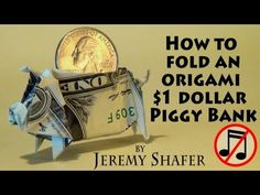 ▶ Origami Piggy Bank (no music) - YouTube