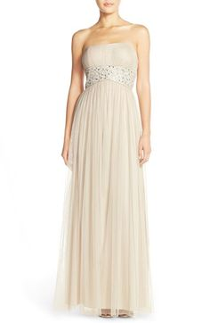 JS Boutique Embellished Mesh Fit & Flare Gown available at #Nordstrom