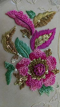 Handmade Embroidery Designs for Sarees . 59 Fresh Handmade Embroidery Designs for Sarees . Zardosi Embroidery, Tambour Embroidery, Indian Embroidery, Brazilian Embroidery, Ribbon Embroidery, Embroidery Stitches, Embroidery Patterns, Embroidery Tattoo, Sewing Stitches