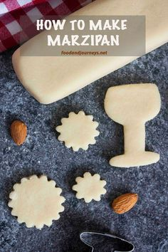 This easy homemade marzipan recipe will convince you that it's better to make your own -- and no eggs for this recipe either! German Desserts, Just Desserts, Homemade Marzipan Recipe, How To Make Marzipan, Sicilian Recipes, Sicilian Food, German Cookies, Fondant, Almond Paste