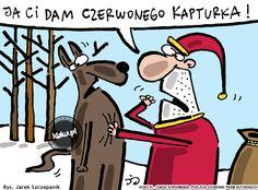 """Komiks """"Ja Ci dam Czerwonego Kapturka!"""" (źródło: http://kuku.pl)"""
