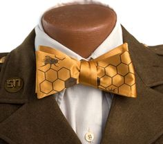 Honeybee Bow Tie, mustard yellow.
