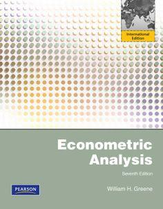 Econometric analysis / William H. Greene