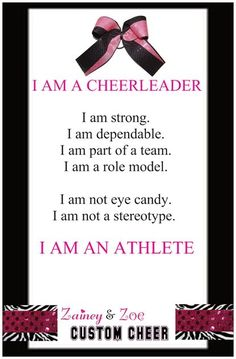 'I Am An Athlete' Poster-I am an athlete cheerleading poster, cheer gifts