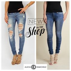 """NEW ARRIVALS!! Happy Saturday! We're obsessing over these new jeans """"light wash destroyed"""" & """"Moto Jeans"""" super comfy and essential to your wardrobe. These would look great with one of our shirts from the Alicia DiMichele Collection. Are you ready for some even more great news? Use the code """"ADLOVE"""" for 20% off the Alicia DiMichele Collection  Shop: www.aliciadimichele.com  #GirlGang #aliciadimicheleboutique #aliciadimichele #newintheshop #newarrivals #fashion"""
