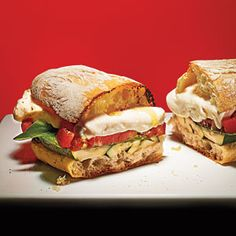 Grilled #Zucchini Caprese #Sandwiches from MyRecipes.com