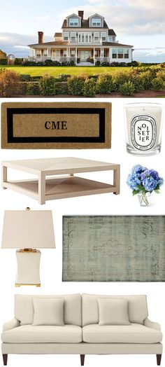 CHIC COASTAL LIVING: GET THE LOOK: NANTUCKET BEACH HOUSE @serenaandlily @wshome