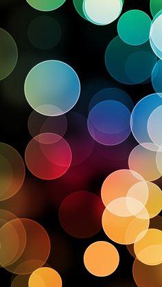 Colorful Bokeh #iPhone #5s #wallpaper
