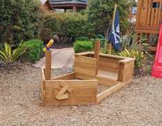 Boat Plans 531987774730607694 - Pirate Ship Source by annawarncke Kids Yard, Play Yard, Kids Pirate Ship, Pallet Pirate Ship, Pirate Ships, Pirate Boats, Outdoor Play Spaces, Build A Playhouse, Backyard Playground