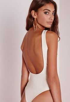 Scoop Back Bodysuit Nude