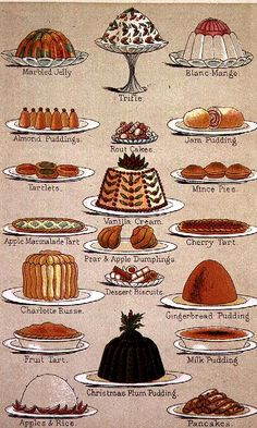 pudding print, I love this, it reminds me of the dessert buffets my Aunt in Portugal makes when we're visiting ;) CP