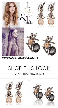 """earrings"" by wwwcarouzoucom ❤ liked on Polyvore featuring ASOS"