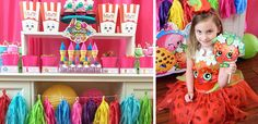 Shopkins are the hottest toys right now and quickly becoming the most popular party theme for girls. What is great about a Shopkins themed party is that there Party Animals, Animal Party, Birthday Box, 1st Birthday Parties, Shopkins Bday, Got Party, Party Themes, Party Ideas, Birthday Decorations