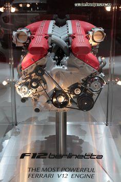 F12 Berlinetta- the most powerful Ferrari V12 engine