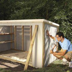 Outdoor Tool Storage, Garden Storage Shed, Storage Shed Plans, Outdoor Tools, Shed Storage Ideas Bikes, Outdoor Ideas, Outdoor Bicycle Storage, Backyard Storage, Small Storage