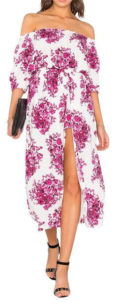 9f91e2f1f6eb Pink Floral Printed Maxi Off Long Draped Romper New Maxi Dress. Free  shipping and guaranteed