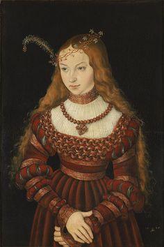 Lucas Cranach d.Ä. - Bildnis der Prinzessin Sibylle von Cleve (1526, Klassik Stiftung Weimar) - John III, Duke of Cleves - Wikipedia