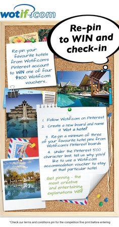 Re-pin your favourite Wotif.com hotels to WIN! #Wotahotel
