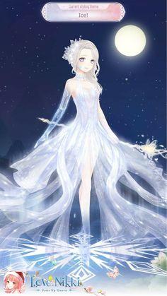 Anime Girl Crying, Anime Art Girl, Ice Elemental, Anime Elf, Character Art, Character Design, Anime Mermaid, Dress Design Drawing, Anime Art Fantasy