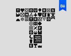 """Vedi questo progetto @Behance: """"Tours Métropole - Brand design"""" https://www.behance.net/gallery/56894737/Tours-Mtropole-Brand-design"""
