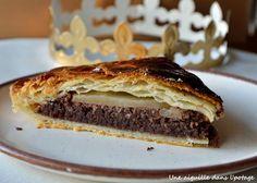galette des rois poire chocolat crème d'amandes une aiguille dans l' potage