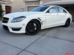 Matte White Mercedes CLS63 Super Sedan - http://www.vividracing.com/blog/wp-content/gallery/mercedes/mercedescls63mattewhite.jpg