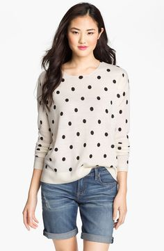 Only Mine Dot Print Crewneck Sweater - http://womenspin.com/clothing/sweaters/only-mine-dot-print-crewneck-sweater/