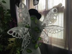Large White Lace Wings by WickedFairyWings on Etsy