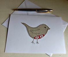 Handmade Christmas Robin Card. Machine by michellecorbindesign
